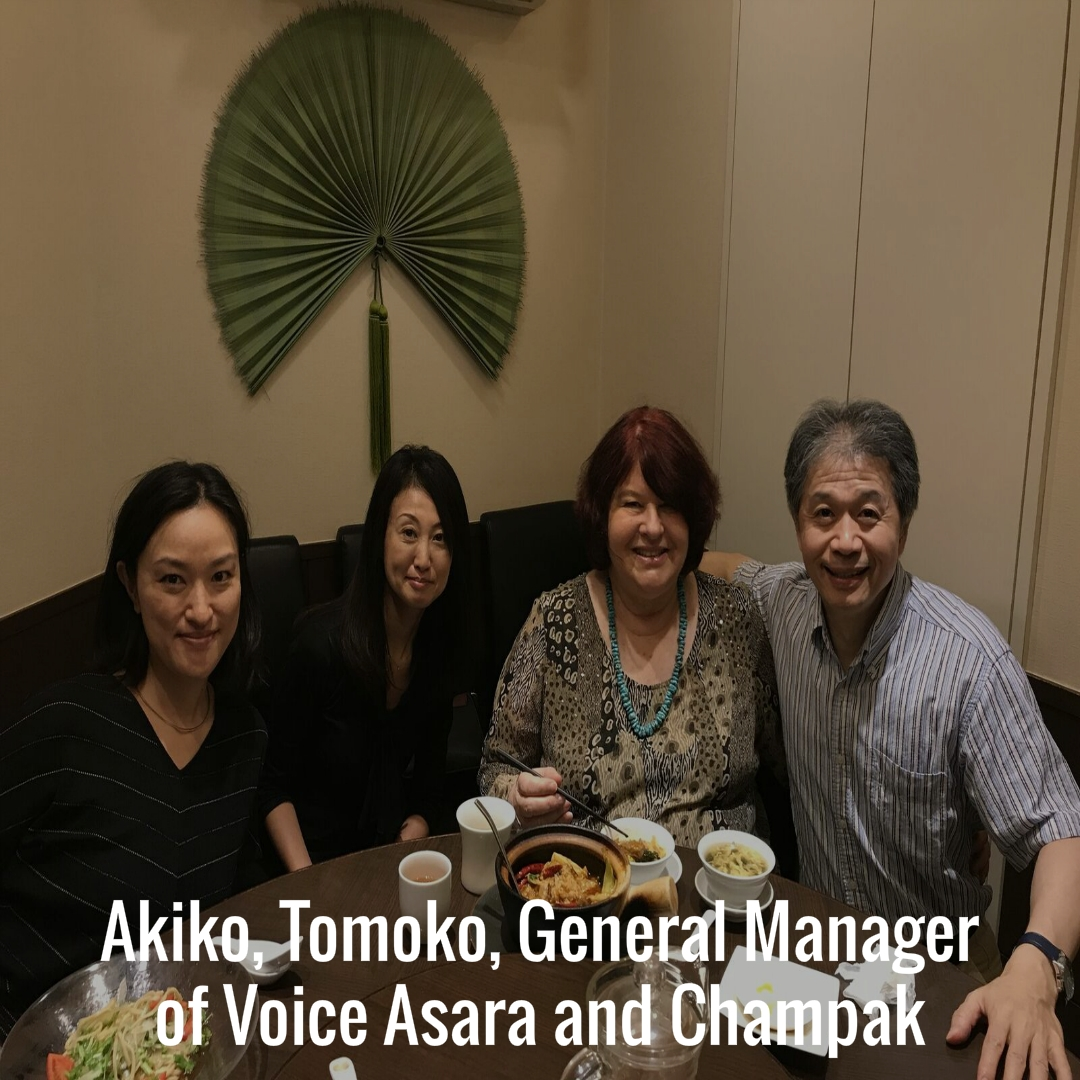 Akiko, Tomoko, General Manager of Voice Asara and Champak