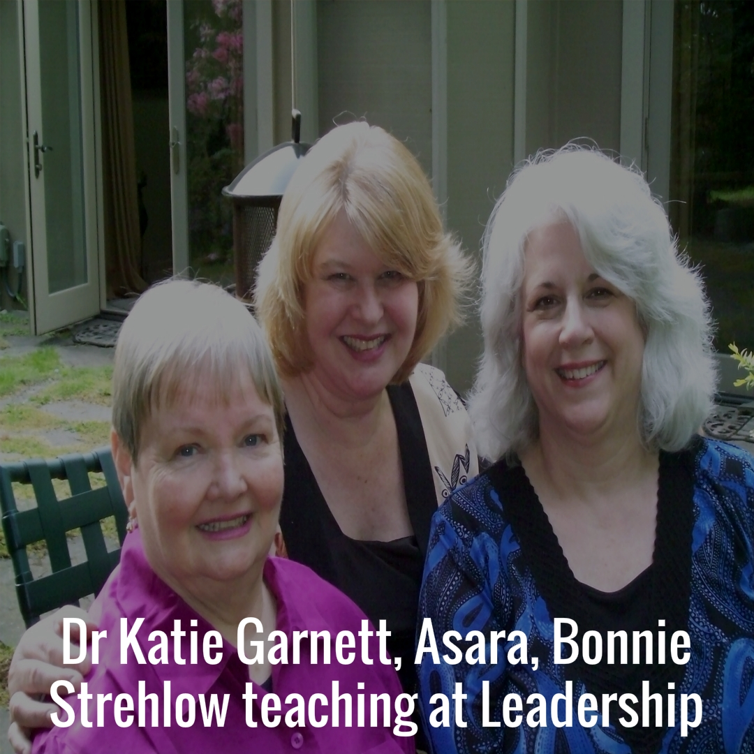 Dr Katie Garnett, Asara, Bonnie Strehlow teaching at Leadership