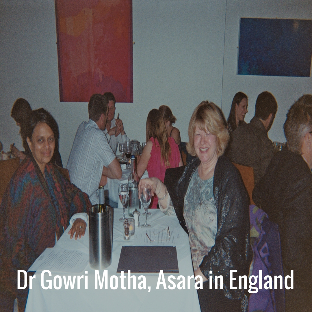 Dr Gowri Motha and Asara in England